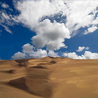 Clouds and sand