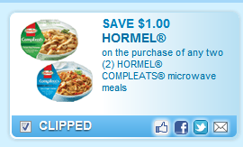 Hormel Compleats Microwave Meals Coupon