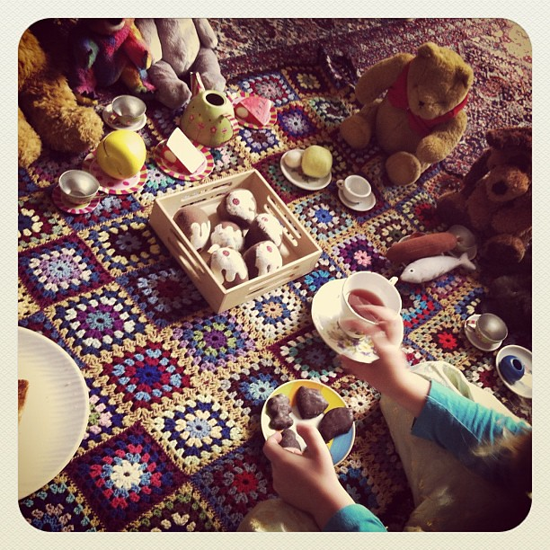 Teddies are sorted #picnic #owlets #play