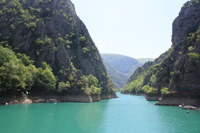 Green blue river of Lake Matka