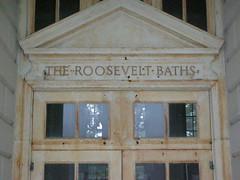 Old Roosevelt Baths, inside Spa State Park.