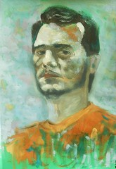 selfportrait in gouache by dibujandoarte
