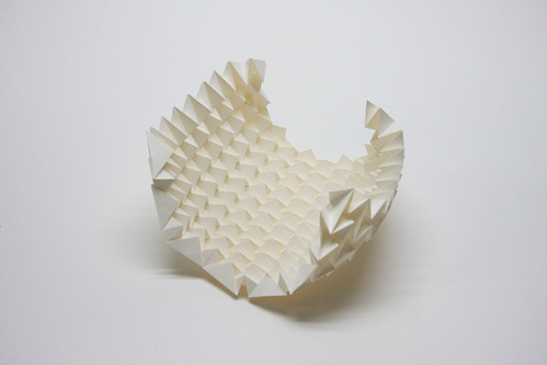 Spiral Sphere, paper, origami, 3d, Jun Mitani, japan