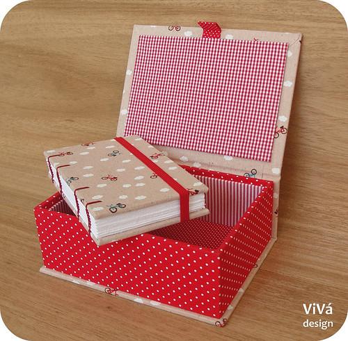 Mini sketchbook + caixinha