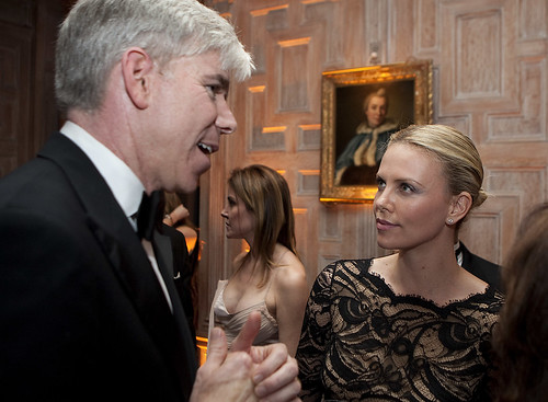 David Gregory and Charlize Theron