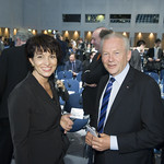 Doris Leuthard and Rüdiger Grube on Day 2 of the Summit