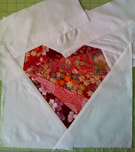 Finished heart ~ for Bee Happy mate, Rosanna