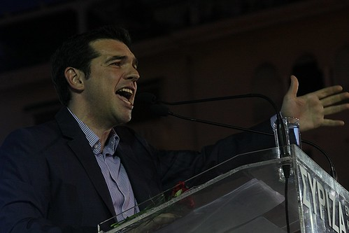 Alexis Tsipras at campaign rally in Thessaloniki, Greece by Teacher Dude's BBQ