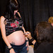 Tom Savini gives a special autograph for the baby.