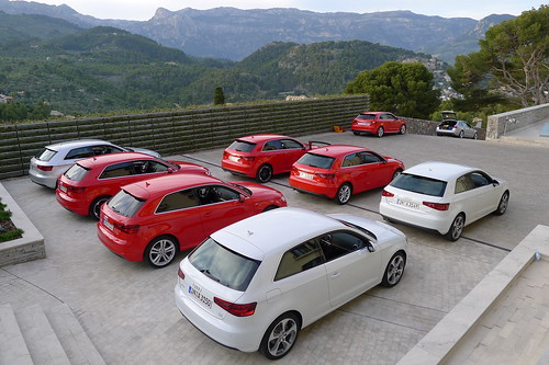 Audi A3 - Brillant Rot & Gletscherweiß Metallic