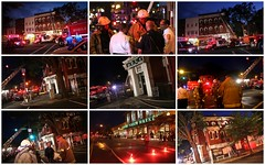 Fire at the corner of 14th & P Streets NW.