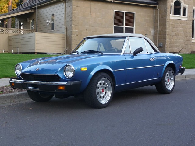 1979 fiat spider 124 for sale blue front flickr photo sharing. Black Bedroom Furniture Sets. Home Design Ideas