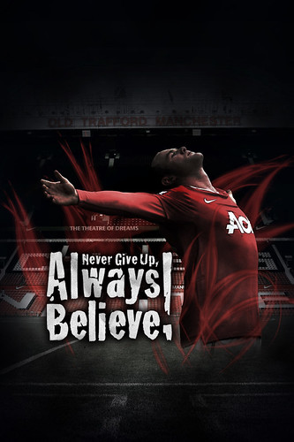 Never Give Up, Always Believe! iPhone Wallpaper