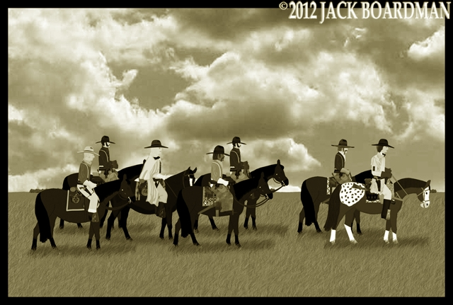 The roundup began as they headed east ©2012 Jack Boardman