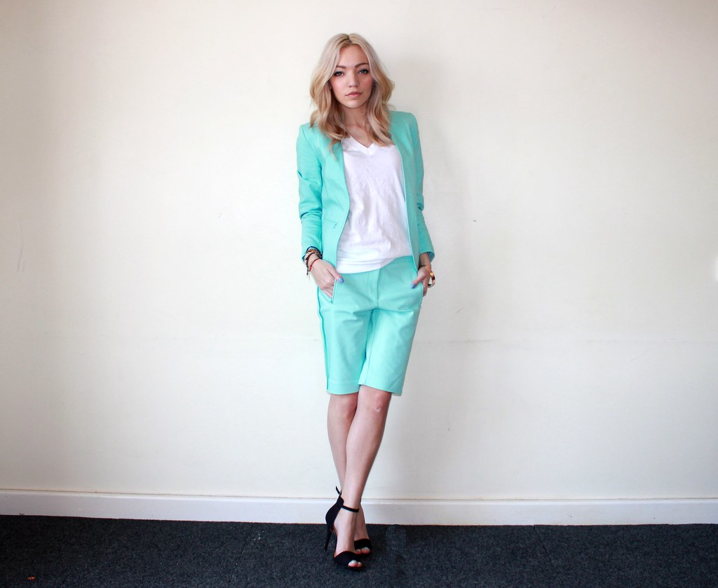 Mint Short suit hm