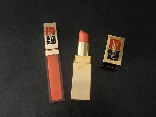 YSL make up, lipstick, orange lipstick