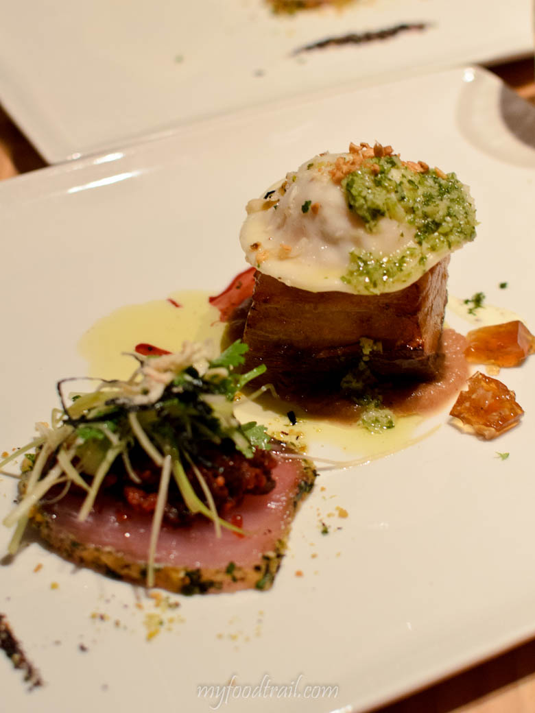 South Wharf - Melbourne Public - Seared tuna, pork belly, dumpling