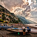 Dawn on the beach at Positano -2