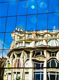Gaudi's Bulding Reflection