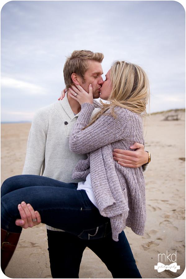 Couple on the Beach in Plum Island