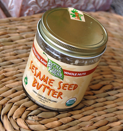 Sprouted sesame seed butter