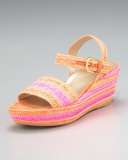 Stuart Weitzman Lanyard Platform Mid-Wedge Sandal NM Retail $335 on sale for  $224