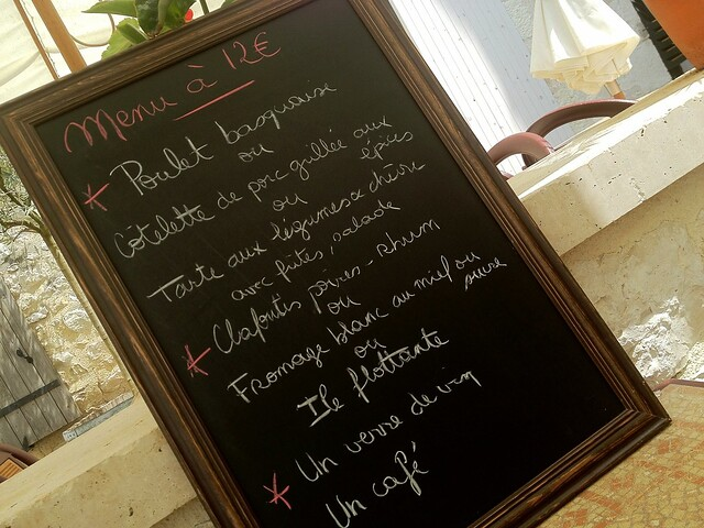 Menu at Terrasse des Arts'cade - Monflanquin