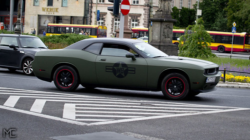 Matte Army Green Dodge Challenger Not The Best Choice Of