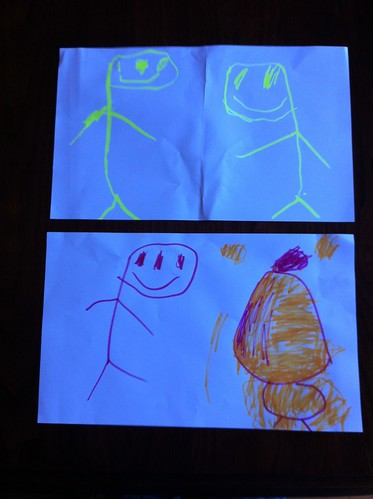 Finn's Father's Day drawings
