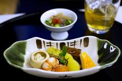 ANA First Class Kaiseki Dinner Sakizuke & Zensai