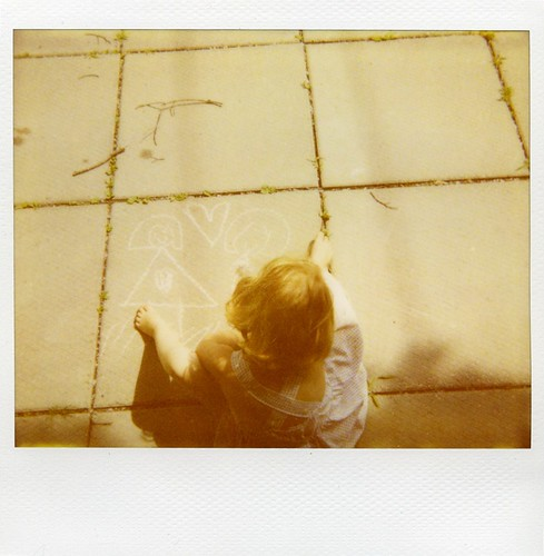 polaroid - Claire + chalk = heart