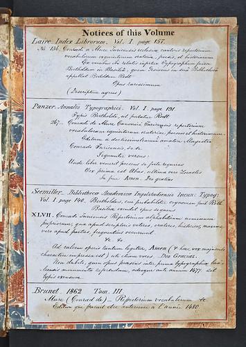 Mansucript notes in Conradus de Mure: Fabularius, seu Repertorium vocabulorum