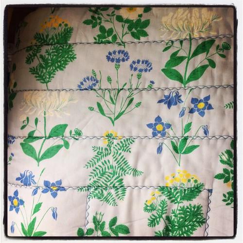 Jag älskar det här gamla täcket i Öregrund