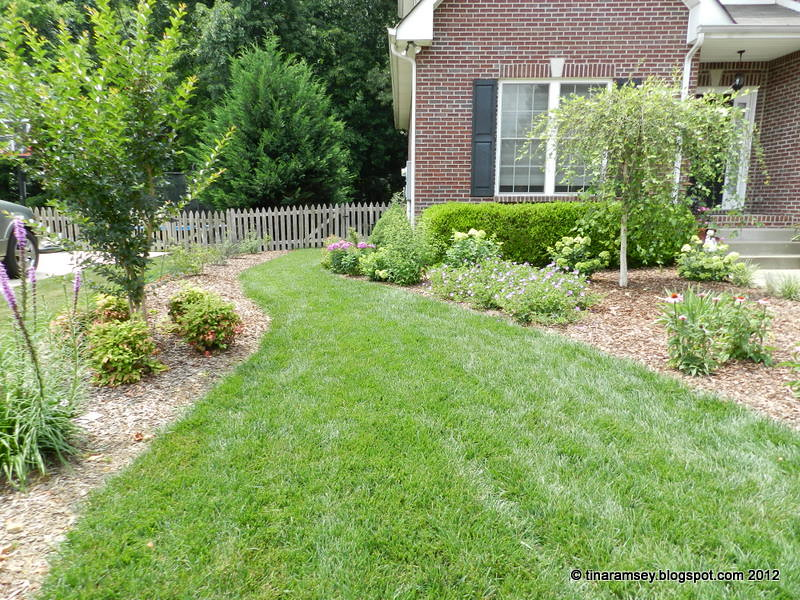 Simple Garden Ideas For The Average Home in the garden: a landscape design before and afters