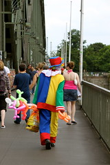 Clown on Hohenzollernbrücke