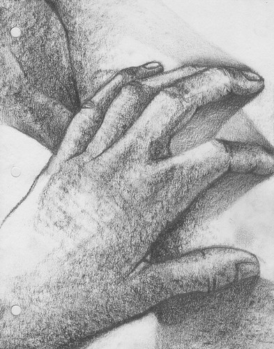 hands studies by dibujandoarte