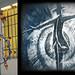 Idraelettrica, 2011-2012, pigmenti ad aspersione sul legno e video animazione, cm 510X360