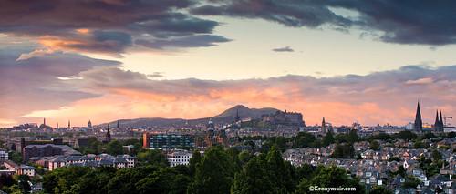 Sunrise over Edinburgh city by Kenny Muir