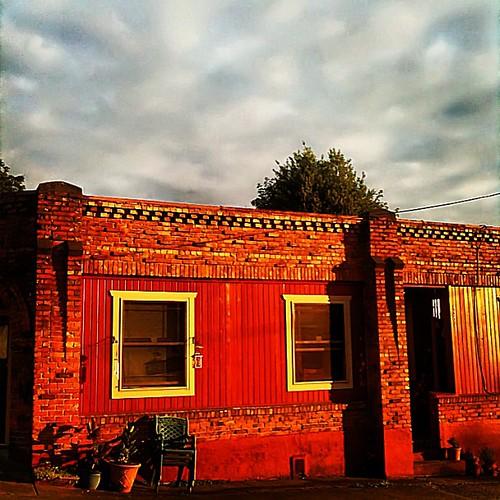 Red brick, West Seattle sundown
