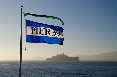 sf california ca sunset usa water rock island bay pier us san francisco flag united prison alcatraz states 39