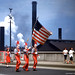 John Harris High School Color Guard & Flag - Parade, Harrisburg, PA. USA - From A vintage Kodachrome transparency by Ross J. Care