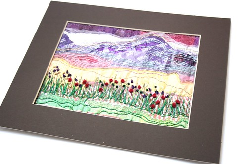 textile landscapes - embellishing with old fabric