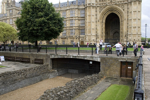 Original moat going under Victoria Tower