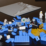 Lego Space - Set 483 Alpha-1 Rocket Base