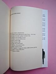 Sergio Pretto, Novecento Rom, CartaCanta 2012. Progetto grafico e logo: Oblique Studio, ill. di cop.: Sara Stefanini. Lista dei titoli (part.), 1