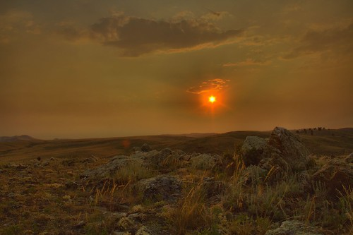 sunset landscape wyoming hdr