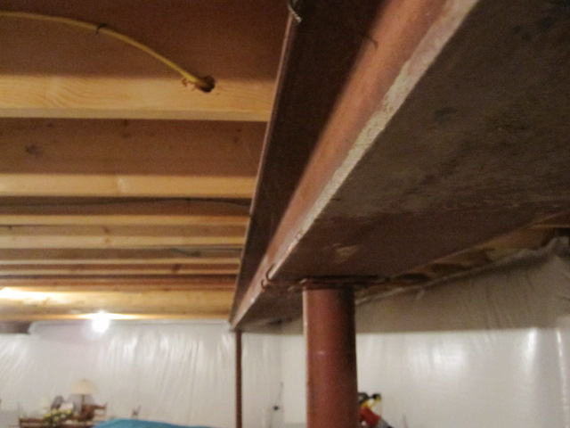how to install support beam in basement