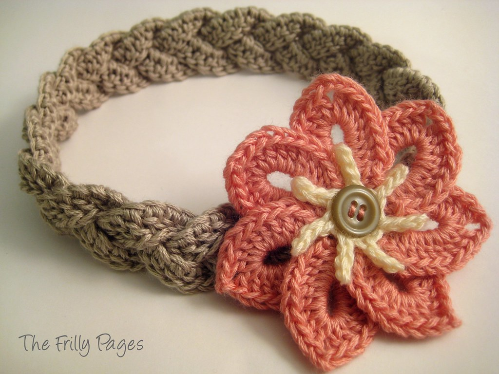 Crochet Pattern For Headband With Flower : The Frilly Pages: Headband with Pointy Petal Flower