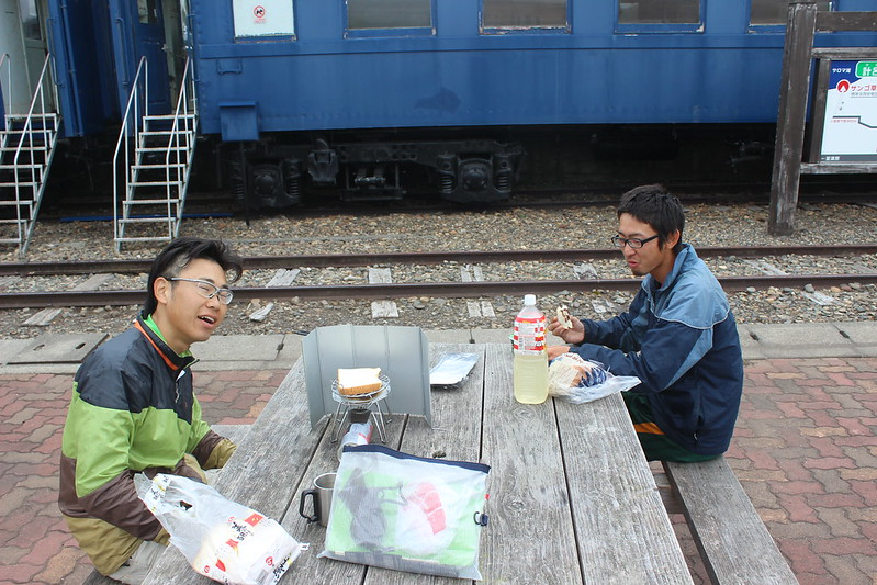 計呂地交通公園で朝食