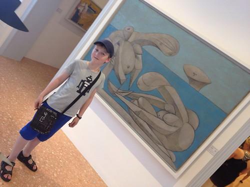 Her er jeg foran et Picassobilde